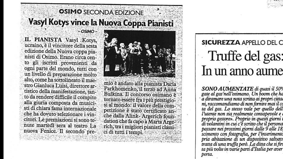 6th NUOVA COPPA PIANISTI - Il Resto Del Carlino